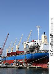 shipyard - New building ship in shipyard