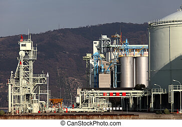refinery plant - Part of a petrochemical refinery and plant