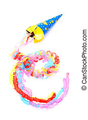 party popper - Party popper isolated on a white background