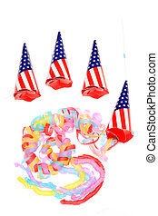 Party poppers isolated on a white background