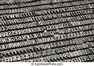 vintage metal letters and numbers - letters, numbers and...