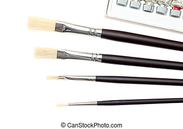 paint brush - Paint brush on white background