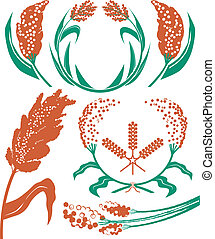 Sorghum Collection - Sorghum clip art