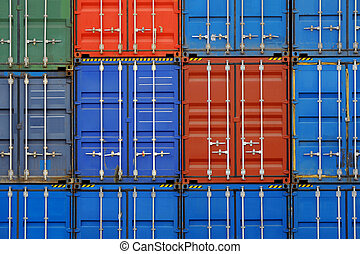 cargo container - Stack of container wall
