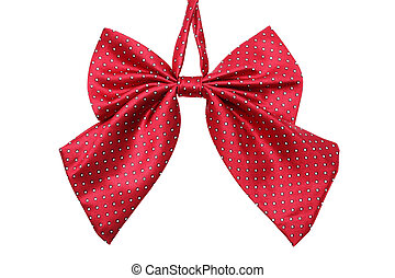 bow tie - Red bow tie for women isolated on white