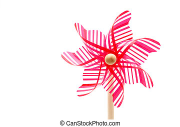 toy pinwheel - Colorful toy pinwheel on white background