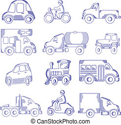 Doodle Transportation - doodle transportation vehicles