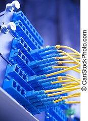 Data transfer by optical fibre information technology.