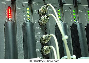コミュニケーション, インターネット, 部屋, ネットワーク, サーバー