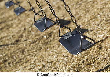 Playground Swings - A set of empty playground swings