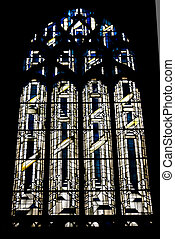 The mosaic window in cathedral of Saint-Jean