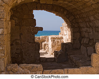 National park Caesarea Israel - National park old city of...