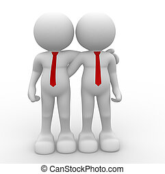 Friends - 3d people - human character - person Friends 3d...