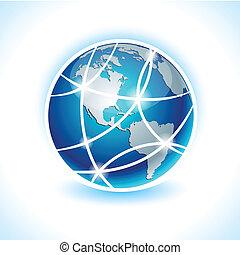 komunikacja, ziemia, -, Ameryka