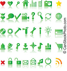 Icons. - ..A lot of web icons. Vector illustration. .