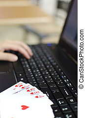 Abstract on-line poker game
