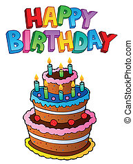 Happy Birthday topic image 1 - vector illustration.