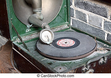 vintage analog turntable from the seventies