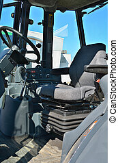 Cabin of control  of a tractor