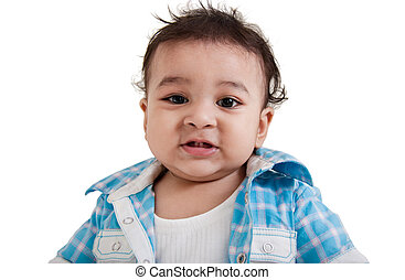 Indian baby laughing