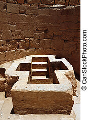 Ancient Beit Shean, Israel - A christian tomb with stairs...