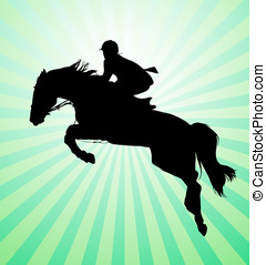 Horseman - Carrying out horse with horseman vector