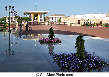 Sultans Palace in Muscat - The Sultans Palace in Muscat,...