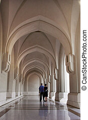 Sultans Palace in Muscat - Arches in the Sultans Palace in...
