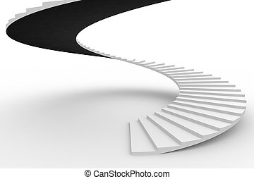 Spiral staircase. Computer generated image.