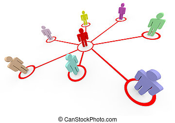 Business or social network. Concept. Computer generated...
