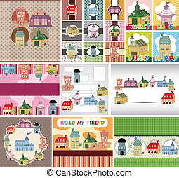 cartoon house card