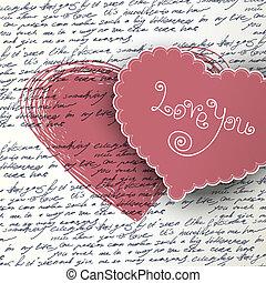 bakgrund, Valentinkort, dag