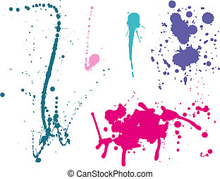 Ink splashes Color. Vector illustration