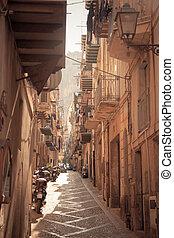 historic sicilian architecture - typical historic sicilian...