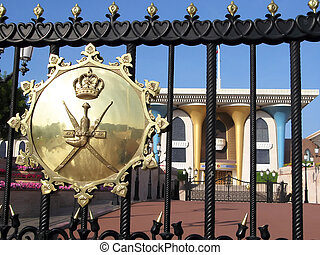 Sultans Palace in Muscat - The Sultan's Palace in Muscat,...