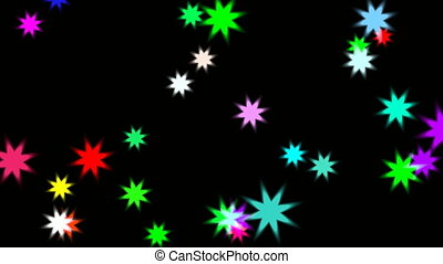 animation of stary stars at night