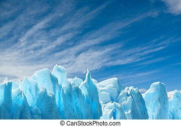 Perito Moreno glacier, patagonia, Argentina. Copy space. -...