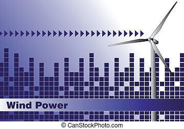 Green Energy - Brochure cover or Business card - Wind power,...