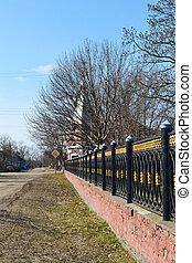 The fence in David-town, Belarus