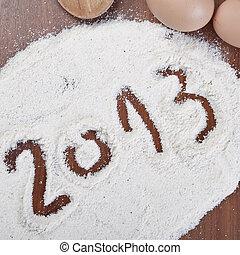 Prêt, nouveau, gâteau, année