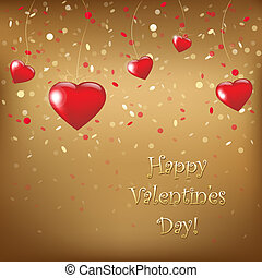 Happy Valentines Day Card, Vector Illustration