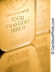 gold ingot background - fine gold ingot background. closeup....