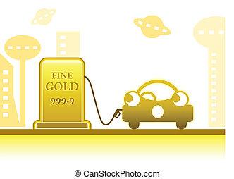 Gold petrol concept