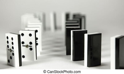 Domino chain reaction