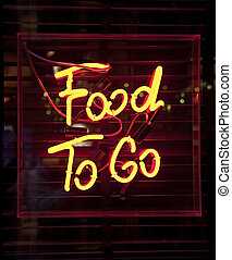Food To Go neon sign