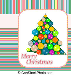 stylized Christmas ball and Christmas tree background