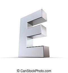 Shiny Letter E
