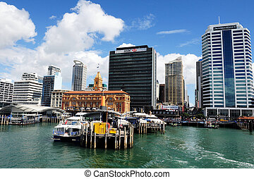 New Zealand Auckland - Auckland central downtown port