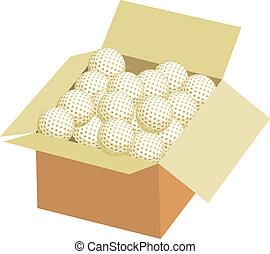 Full box of golf ball
