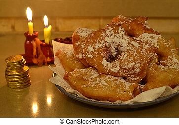 marroquí, Hanukkah, rosquillas